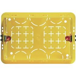Scatola da incasso in resina per 3 moduli serie civili 108x74x53,5mm