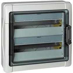 Centralino da parete in resina 24 moduli DIN (2x12) IP65 Idroboard