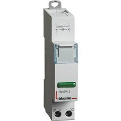 BTDIN - SINGOLA LED VERDE 12/48V AC