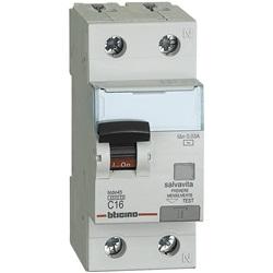 Interruttore magnetotermico differenziale Salvavita 1P+N tipo AC 16A 4,5kA 230 Vac 30mA 2 moduli