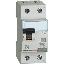 Salvavita differenziale - Interruttore magnetotermico differenziale A 1P+N 25A 4,5K