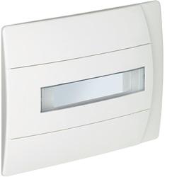 Centralino da incasso in resina 8 moduli DIN con portello bianco da completare con Scatola da incasso