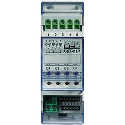 Attuatore DIN con 4 relè indipendenti 2 moduli SCS