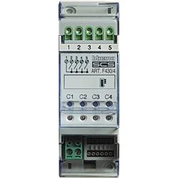 Attuatore termoregolazione 2 moduli con 4 relè indipendenti