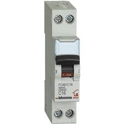 Interruttore magnetotermico 1P+N curva C 16A 1 modulo