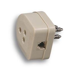 Spina 3p.+ presa + plug 6/4