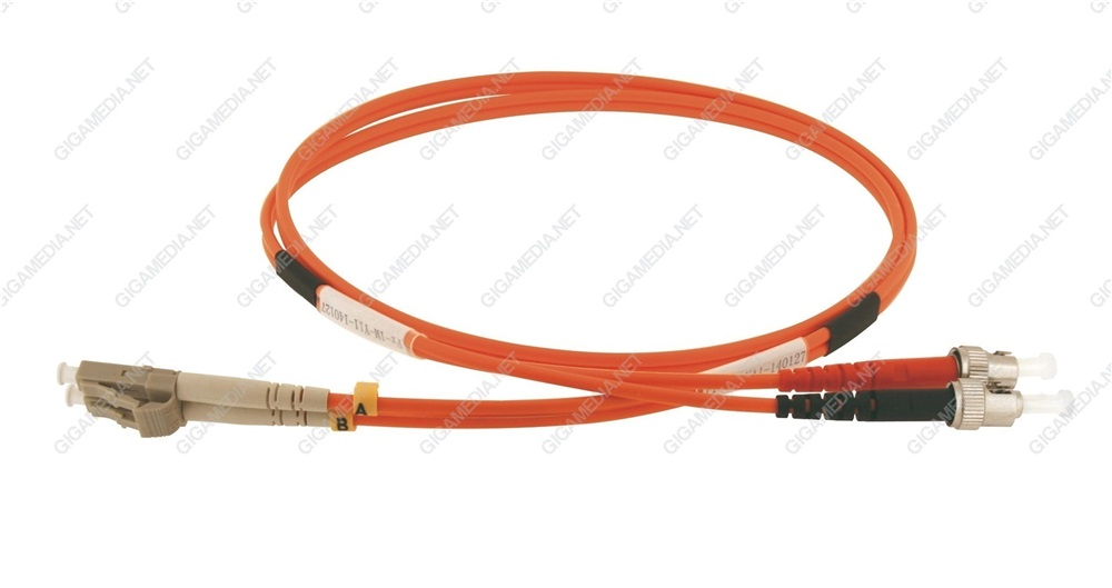 Patch cord ottica DUPLEX OM2 50/125 µm - LC/ST - 1 m Arancione