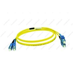 Patch cord ottica DUPLEX OS2 9/125 µm - SC/SC - 1 m Giallo