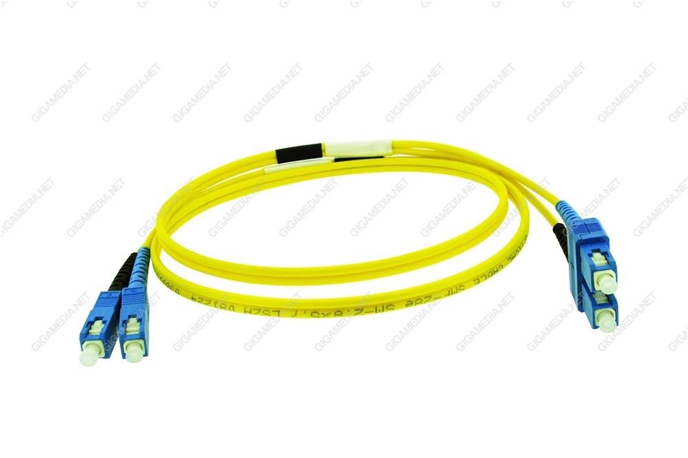 Patch cord ottica DUPLEX OS2 9/125 µm - SC/SC - 2 m Giallo