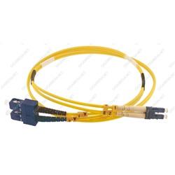 Patch cord ottica DUPLEX OS2 9/125 µm - LC/SC - 2 m Giallo