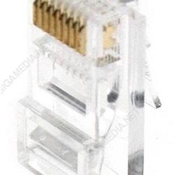 Lotto di 10 plug RJ45 8/8 CAT5E/CAT6 per cavo rigido GIGAMEDIA U/UTP