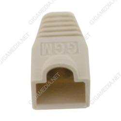 Confezione da 10 cappucci di gomma grigi per cavi rame intrecciati. Diametro complessivo di 5,6 a 6 mm