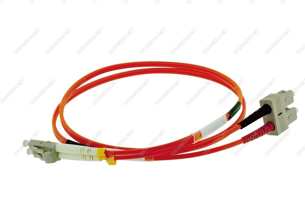 Patch cord ottica DUPLEX OM2 50/125 µm - SC/SC - 2 m Arancione