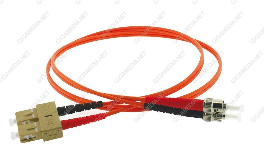 Patch cord ottica DUPLEX OM2 50/125 µm - ST/SC - 2 m Arancione