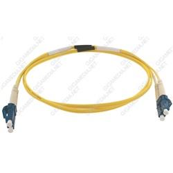 Patch cord ottica DUPLEX OS2 9/125 µm - LC/LC - 1 m Giallo