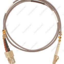 Patch cord ottica DUPLEX OM3 50/125 µm - LC/SC - 1 m Giallo