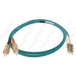 Patch cord ottica DUPLEX OM4 50/125 µm - LC/SC - 2 m Turchese