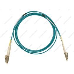 Patch cord ottica DUPLEX OM4 50/125 µm - LC/LC - 1 m Turchese