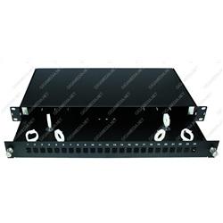 Cassetto ottico vuoto scorrevole per 24 bussole SC simplex Nero