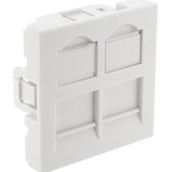frontalino dritto 2 porte 45x45 con finestra di etichettatura