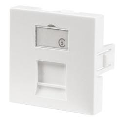 frontalino dritto 1 porta 45x45 con finestra di etichettatura
