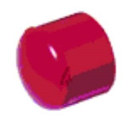 Tappo fine linea in ABS, di colore rosso