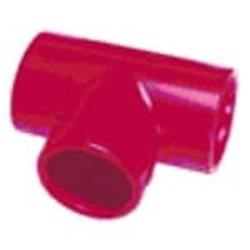 Raccordo TEE in ABS, di colore rosso