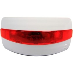 Ripetitore ottico d'allarme a led per rivelatori con lente di colore rosso