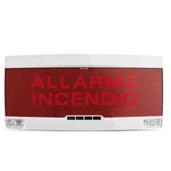 Pannello ottico-acustico per interni di avviso di allarme