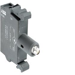 MLBL-01G Portalampade con LED integrato, VERDE, montaggio frontale, 24V c.a./c.c.