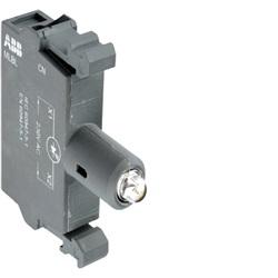 MLBL-01Y Portalampade con LED integrato, GIALLO, montaggio frontale, 24V c.a./c.c.