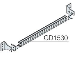Kit guida DIN e supporti di fissaggio 24 moduli DIN (L=600mm)