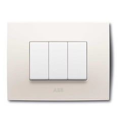 Placca 2 Moduli, Colore Bianco
