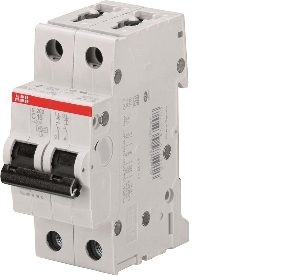 interruttore magnetotermico 4,5 kA Curva C 6 A