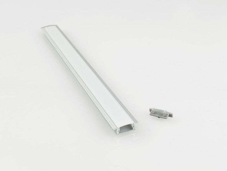 Profilo in allumino Nobile per doppia striscia opale LED