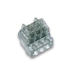 Morsettiere unipolare a 3 vie a serraggio indiretto di collegamento e derivazione per conduttori da 1:6 mm²