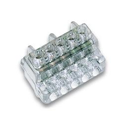 Morsettiera unipolare Z6 a serraggio indiretto a 5 vie sezione 6mm²