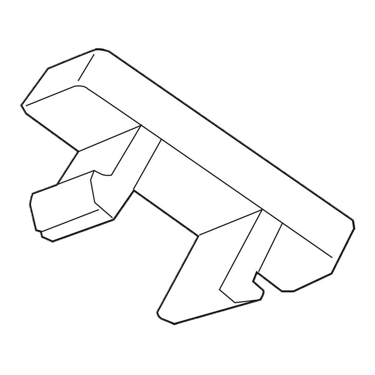 Targhetta Cembre MG-CPM-04 Bianca 5X10 X M