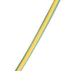 Guaina termorestringente 3/1 senza adesivo 18/6 mm, 1 mm verde/gialla