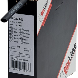 Guaina termorestringente bobina 3/1 senza adesivo 3/1 mm, 12 m nera