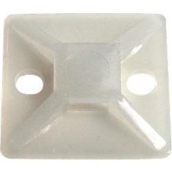 Zoccolo adesivo e da avvitare 28 x 28 x 3.9 mm trasparente (x100)