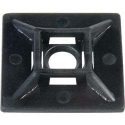 Zoccolo adesivo e da avvitare 28 x 28 x 5.3 mm nero