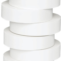 Nastro di isolamento e di individuazione elettrica 19 mm x 20 m x 0.15 mm SP bianco