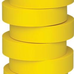 Nastro di isolamento e di individuazione elettrica 19 mm x 20 m x 0.15 mm SP giallo
