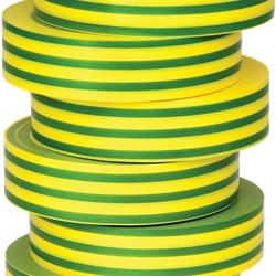 Nastro di isolamento e di individuazione elettrica 19 mm x 20 m x 0.15 mm SP verde/giallo
