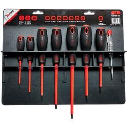 Kit di 7 cacciaviti isolati 1000 V + tester