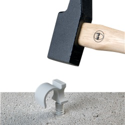 BIZCLIP plastica semplice Ø tubo 25 mm (x 100)