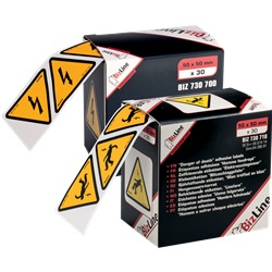 """Segnale adesivo triangolo """"Pericolo elettricità 100 x 100 mm (x 20)"""