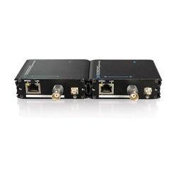 Adattatore Ethernet su cavo coassiale con PoE + (kit trasmettitore / ricevitore)