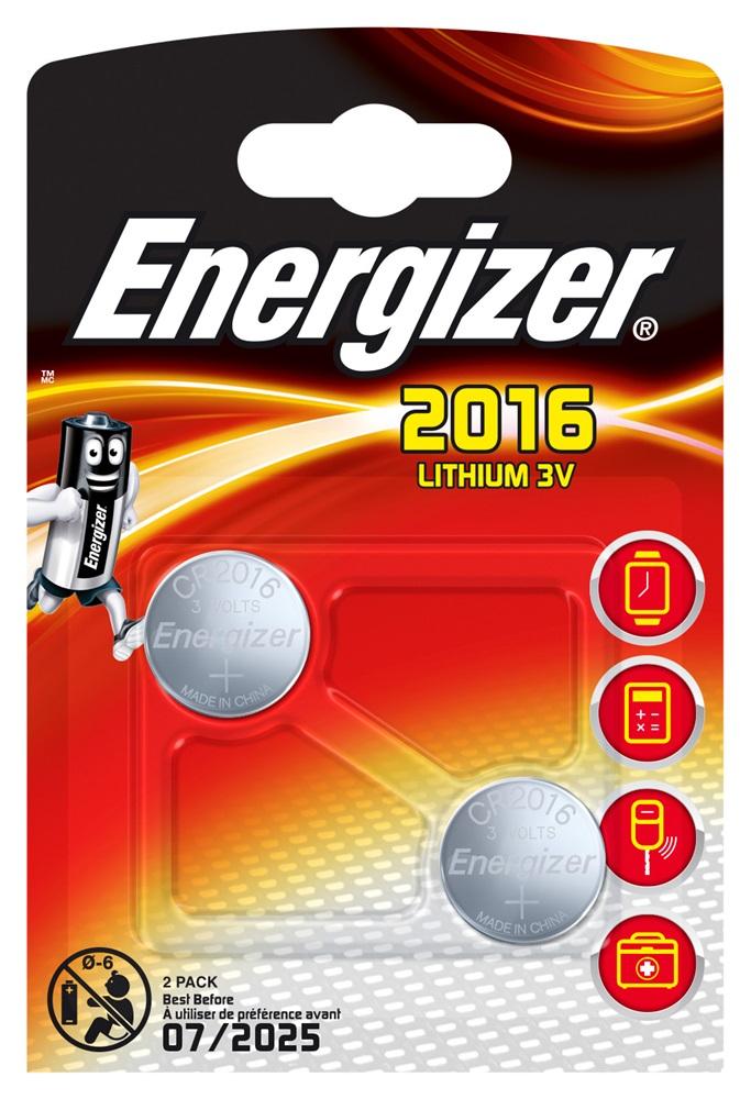 ENERGIZER CR2016 Lithium BP2